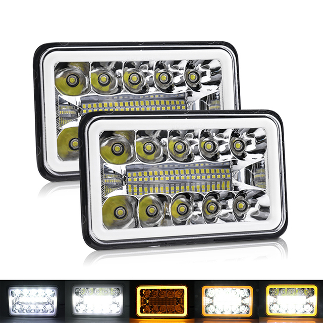 4x6 Muti-Farben Angel Eyes Square LED Scheinwerfer JG-1002-HP